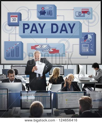 Pay Day Salary Income Paycheck Wages Payments Concept