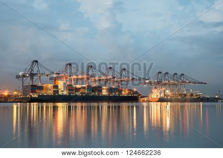 Singapore cargo terminal,one of the busiest ports in the world, Singapore.