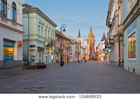 KOSICE, SLOVAKIA - MARCH 20, 2016: St. Elisabeth cathedral in the centre of Kosice city in eastern Slovakia on March 20, 2016.