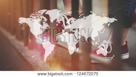 Global Globalization Networking International Concept