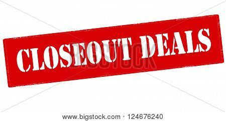 Rubber stamp with text closeout deals inside vector illustration`