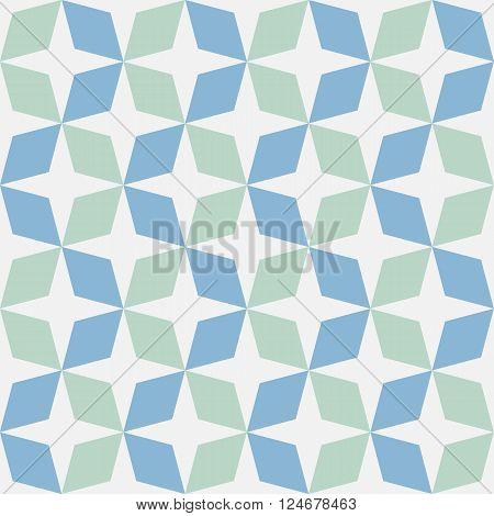 Green and blue mosaic moroccan zellige seamless. vector illustration poster