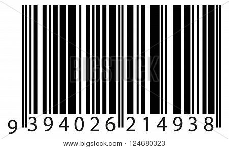 bar code to identify the product. vector eps10