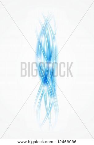 Vector blue smoke background