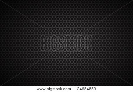 Geometric polygons background abstract black metallic wallpaper vector illustration