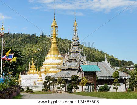 Wat Chong Klang Burmese style temple in Mae Hong Son, Thailand