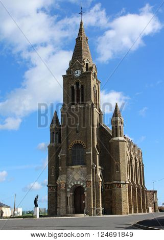 The 19th century Chapelle Notre Dame de Bonsecours in Dieppe in Normandy, France.