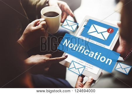 Notification Alert Digital Icon Internet Network Concept