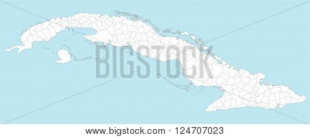 A large and detailed map of Cuba with all provinces and main cities.