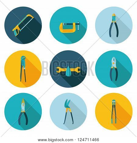 flat icons bench tools in vector format eps10