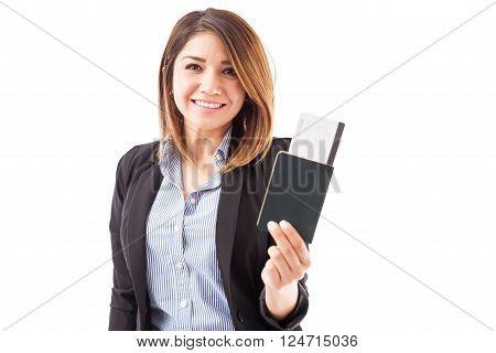 Businesswoman Ready To Travel