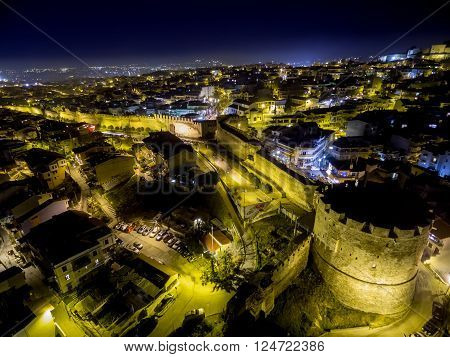 Aerial View Of Thessaloniki City At Night