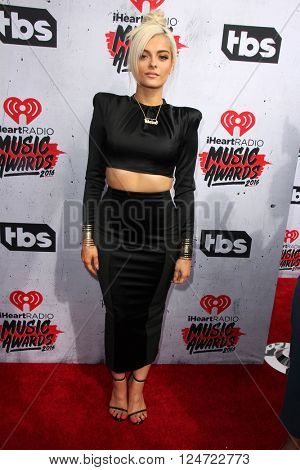 LOS ANGELES - APR 3:  Bebe Rexha at the iHeart Radio Music Awards 2016 Arrivals at the The Forum on April 3, 2016 in Inglewood, CA