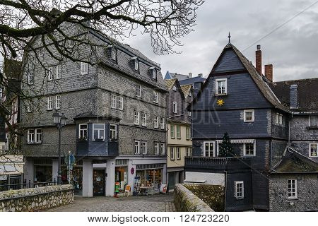 historic house in Wetzlar old town Germany