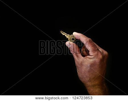 Holding door key