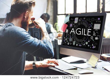 Agile Agility Nimble Quick Fast Vollent Concept