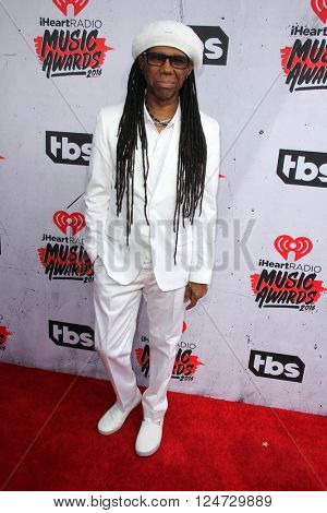 LOS ANGELES - APR 3:  Nile Rodgers at the iHeart Radio Music Awards 2016 Arrivals at the The Forum on April 3, 2016 in Inglewood, CA