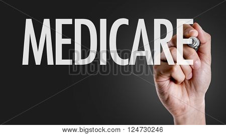 Hand writing the text: Medicare