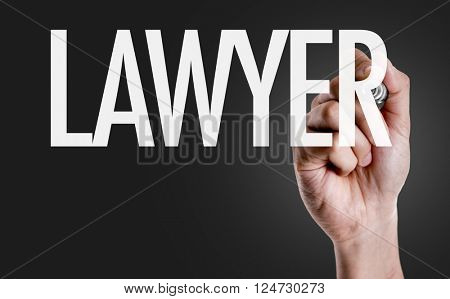 Hand writing the text: Lawyer
