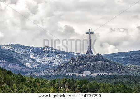Veiw on Valley of the Fallen (Valle de los Caidos) Madrid Spain