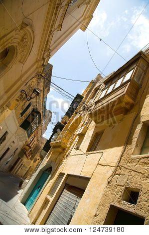 Street in Ir-Rabat / Rabat in Malta southern Europe.