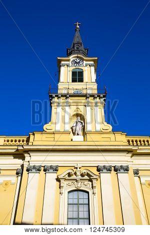 The Theresa City Parish Church (Terézvárosi plébániatemplom) in Budapest Hungary Europe. poster