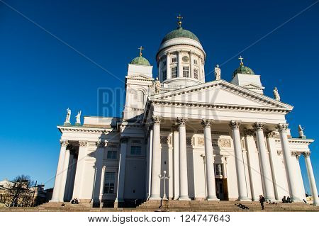 Helsinki Cathedral is the Finnish Evangelical Lutheran cathedral. The church was originally built a tribute to the Grand Duke of Finland, Tsar Nicholas I of Russia
