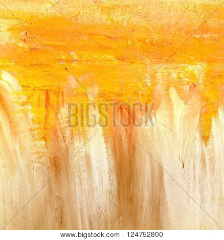 Abstract artistic background texture with golden and white brush strokes