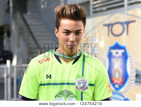 Bangkok,thailand-jun 28 : Charyl Chappuis Player Suphanburi Fc  In Action During The Competition 201