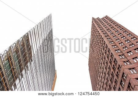 Modern architecture of office buildings in Berlin