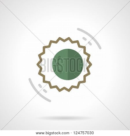 Abstract symbol of solar eclipse. Sun and moon. Astronomy events. Space research and observation. Flat color style vector icon. Web design element for site, mobile and business.