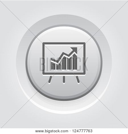 Business Analytics Icon. Grey Button Design. Business Concept