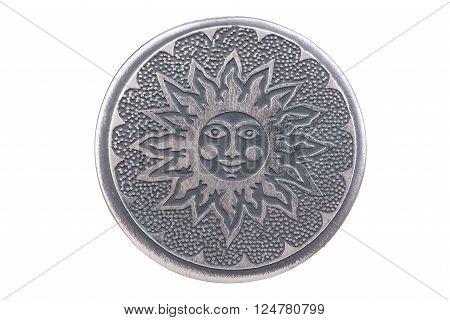 The sun. Image of the solar countenance give joy to every person, regardless of nationality and religion. Sun - a symbol of health and happiness for all.