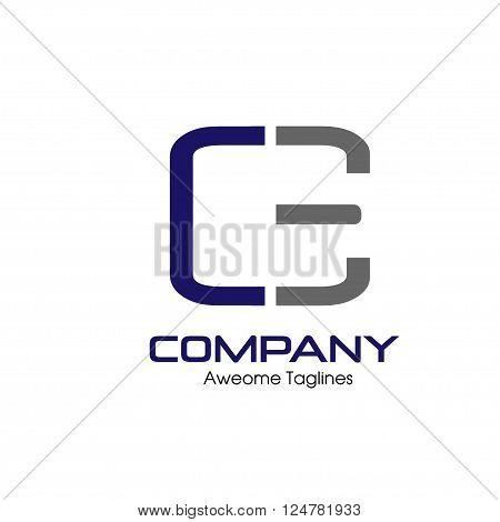 CE,E,C letter Business design template logo icon