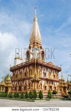 Wat Chalong is the most important temple of Phuket Thailand