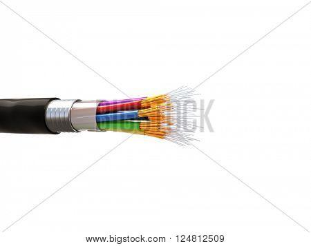 fiber optics background 3d image