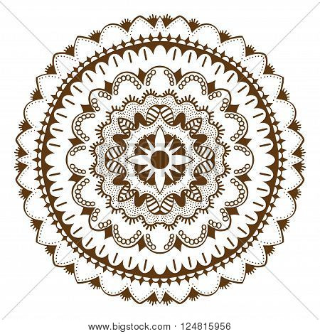 Abstract floral vector photo free trial bigstock abstract floral ornament mehndi henna tattoo mandala yantra brown vintage vector banner frame card for stopboris Gallery