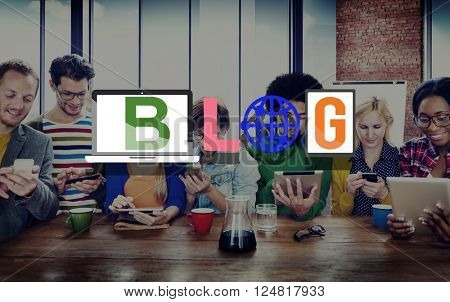 Blog Blogging Social Media Networking Online Concept