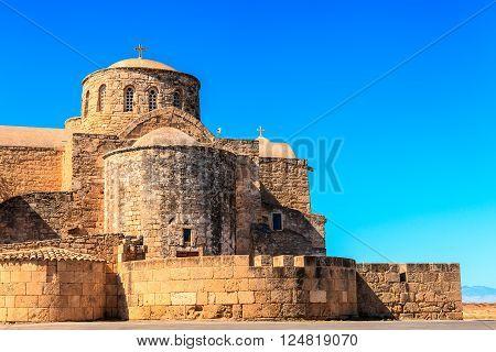 Historic St. Barnabas Church in Cyprus near Famagusta.