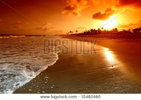 sunrise golden sky