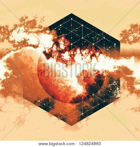 gas world toxic explosion abstract geometry design