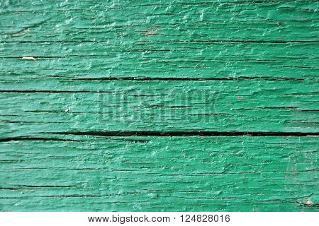 Green wooden old plank texture as background