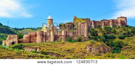 Ancient fortress Narikala in the old town of Tbilisi Georgia. Caucasus.