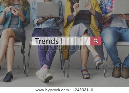 Trends Fashion Forecast Marketing Modern Concept