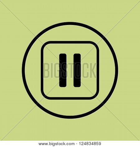 Music Pause Icon In Vector Format. Premium Quality Music Pause Icon. Web Graphic Music Pause Icon Si