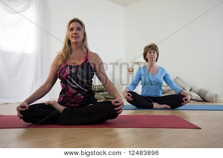 Yoga Instructor And Student