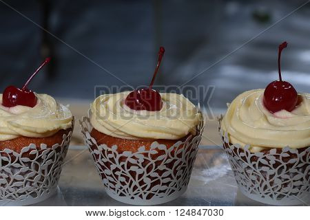 Cupcakes With Cherry