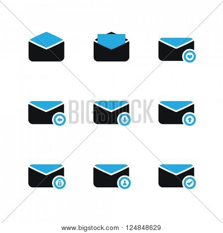 E-mail Icon Set - Blue Series
