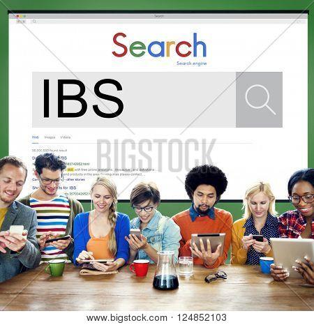 IBS Illness Medical Sick Symptoms Concept poster