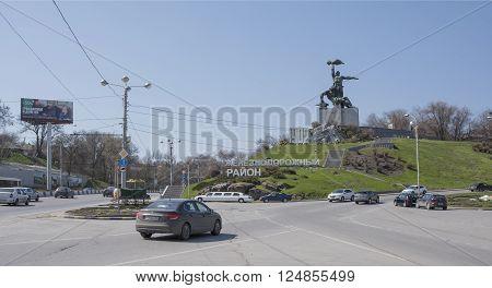 ROSTOV-ON-DON RUSSIA- APRIL 05- Square Strike on April 05; 2016 in Rostov-on-Don